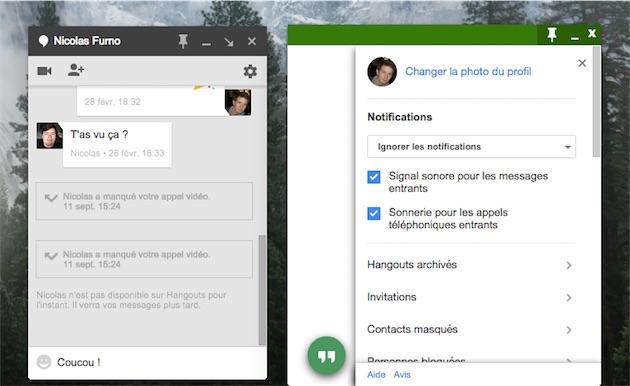 Une app de bureau pour hangouts la messagerie de google macgeneration - Installer google sur le bureau ...