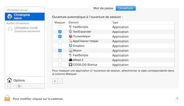 OS X : éliminez les lancements inutiles d'apps au démarrage