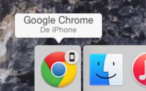 Handoff fonctionne avec Chrome et respecte la navigation privée