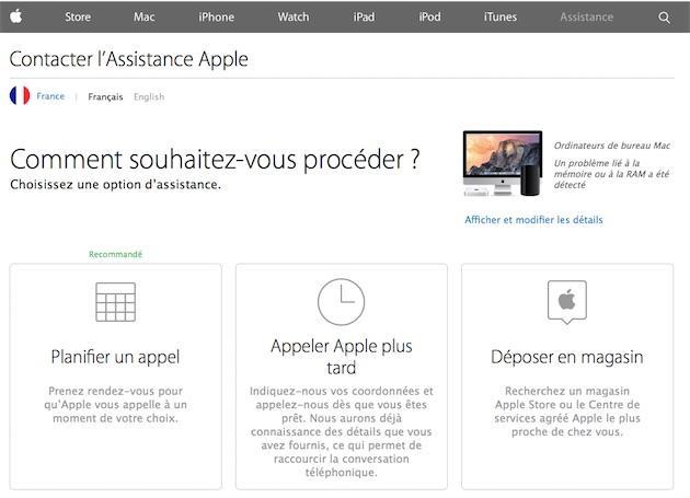 comment prendre rdv avec apple