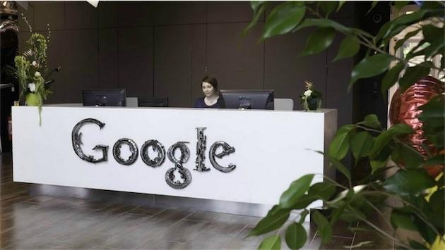 Dans les bureaux irlandais de Google. Image Google.