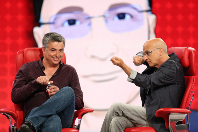 Eddy Cue et Jimmy Iovine. Image Re/code.