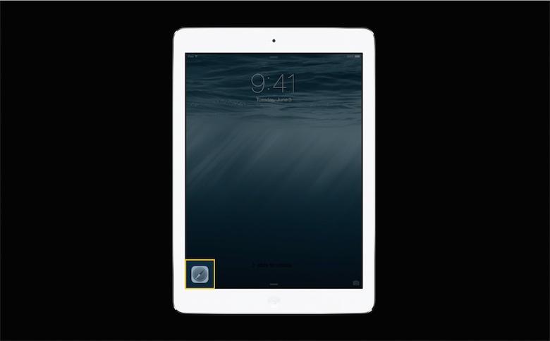 Handoff sur l'écran d'accueil d'iOS.