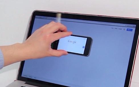 Quand l'écran de l'iPhone se mêle à celui du Mac
