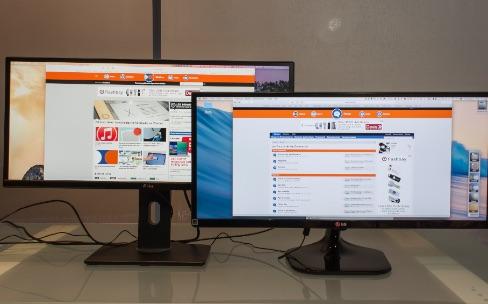Comparatif de deux écrans 29pouces 21/9 de LG et Dell