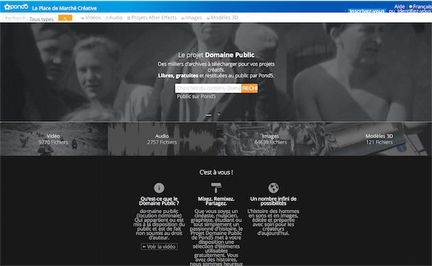 Pond5 facilite l'accès à des ressources audio/vidéo du domaine public