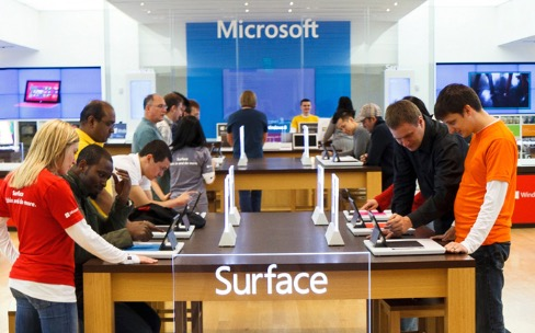 Microsoft achève deux gros Stores près d'Apple à NewYork et Sydney