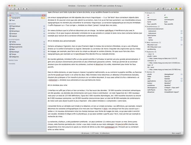 OS X El Capitan : Antidote refoulé à la porte d'iWork et de TextEdit