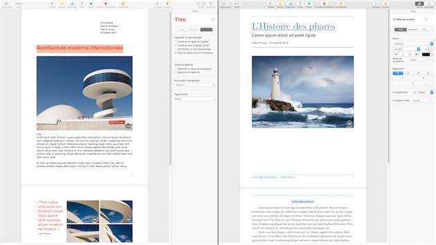 Pages, Numbers et Keynote optimisés El Capitan, iOS 9 et 3D Touch