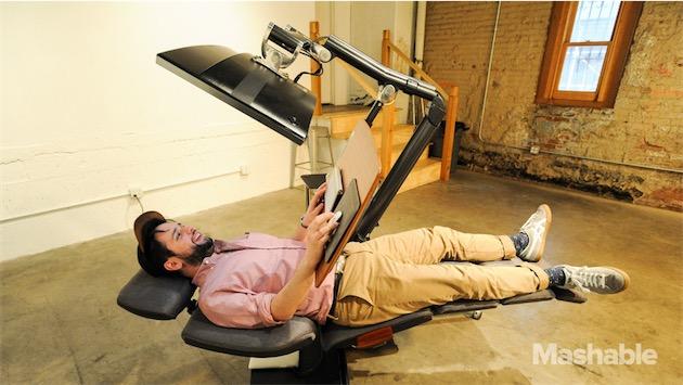 Un bureau permet enfin de travailler allongé macgeneration