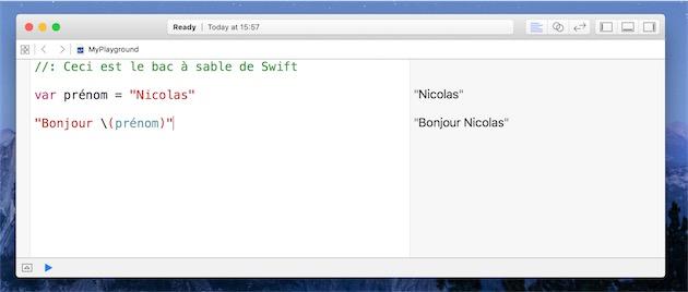 Le Playground de Xcode, une interface parfaite pour apprendre le Swift. Depuis le début, Apple a beaucoup insisté sur l'aspect pédagogique de son langage.