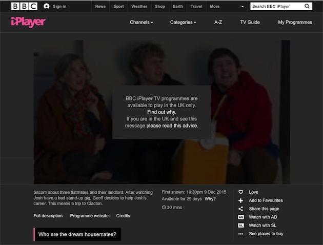 Ce message sera bientôt de l'histoire ancienne. Capture BBC iPlayer.