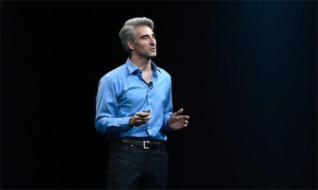Craig Federighi, lors d'un keynote de WWDC