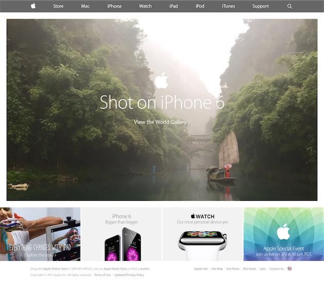 Le lancement de la campagne «Photographié avec l'iPhone6»,le 1er mars 2015.