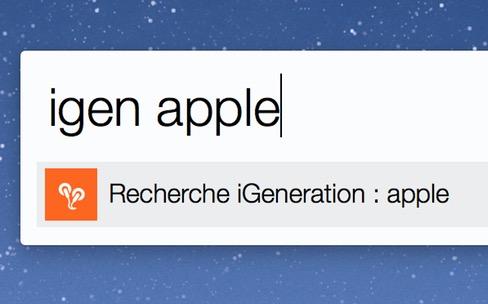 Astuce : cherchez sur MacG depuis votre Mac ou iPhone