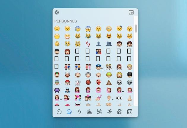 de petites flches apparaissent ct de certains emojis lorsquon les survole un ruban se droule ensuite peut tre pour accueillir terme des