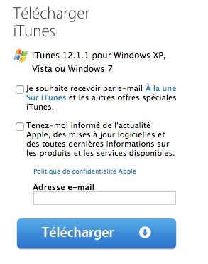 WINDOWS POUR (VERSIONS 32 BITS) ITUNES TÉLÉCHARGER 12.1.3