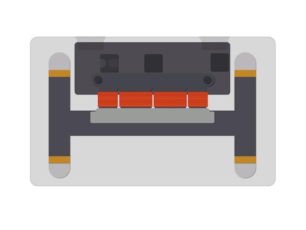 Schéma de l'envers du trackpad Force Touch. Ce schéma correspond au trackpad du MacBook : celui du MacBook Pro fonctionne selon le même principe, mais les composants sont arrangés différemment. Image MacGeneration.