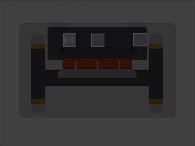 Le circuit du trackpad Force Touch comprend trois puces d'importance, selon iFixit. À gauche, le contrôleur de la grille capacitive Broadcom BCM5976, que l'on retrouve aussi dans les iPhone. Au milieu, le contrôleur ST Microelectronics 32F103B6, une puce ARM Cortex-M3 à 72 MHz accompagnée de 128 Ko de mémoire programme, de 20 Ko de SRAM, et d'une interface USB 2.0. Enfin à droite, un régulateur linéaire Linear Technology LT3954.