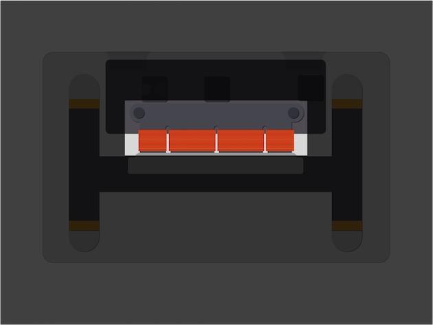 Les électroaimants occupent une place centrale dans le trackpad Force Touch. Leur nombre et leur taille différente permet de «sculpter » des vibrations—et donc des sensations—différentes.