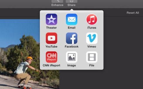 iMovie mis à jour pour envoyer des vidéos vers YouTube