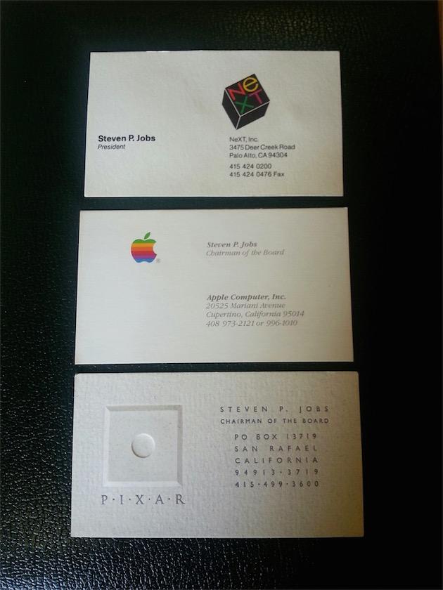 Ces Cartes De Visite Balaient La Periode 1984 A 1990 Du Fondateur DApple