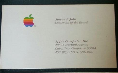 Trois Cartes De Visite Steve Jobs Aux Enchres