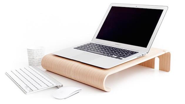 des socles en bois danois pour imac et macbook macgeneration. Black Bedroom Furniture Sets. Home Design Ideas