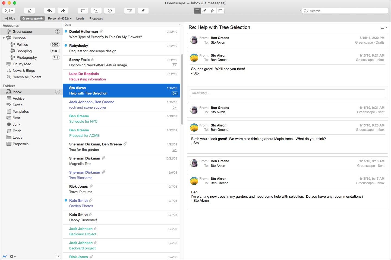 Postbox 4 revient dans la course contre mail macgeneration - La redoute contact mail ...