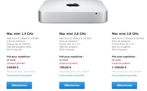 Apple Store : flambée des prix et de nouveaux iMac / MacBook Pro