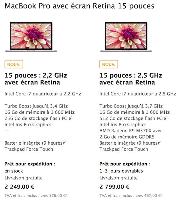 Sur Le Modle De Base Il Est Possible Choisir En Option Un Processeur Plus Puissant Core I7 25 Ou 28 GHz Et Jusqu 1 To Stockage