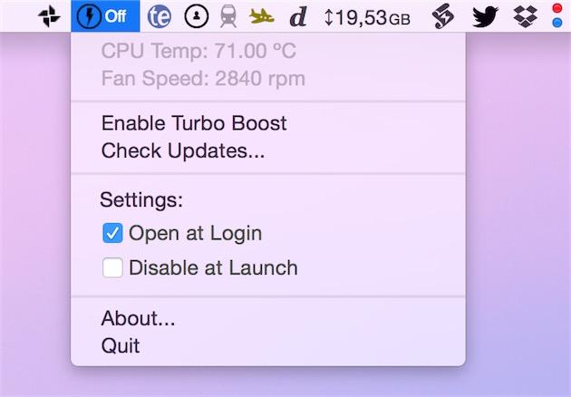 Astuce : désactiver Turbo Boost pour augmenter l'autonomie
