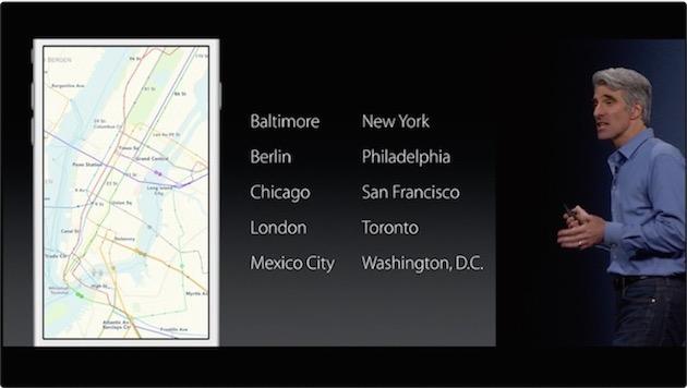 Plans intègre les transports en commun de manière très intéressante : il est capable de proposer des itinéraires multimodaux (connexions piétonnes comprises), et de vous envoyer du bon côté d'une grande station selon la ligne que vous désirez emprunter. Malheureusement, il ne sera disponible que dans une poignée de villes à son lancement.
