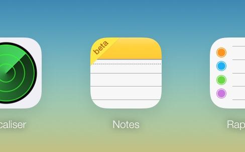 La nouvelle app Notes en beta sur iCloud