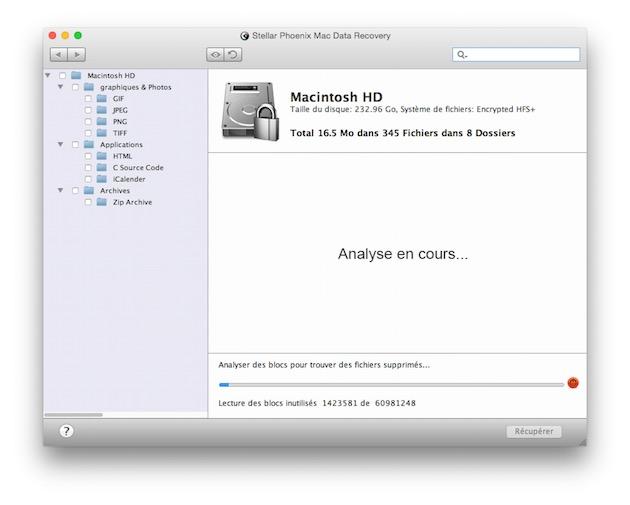 …mais ça fonctionne ! Il faut d'ailleurs dire que Mac Data Recovery prend en charge tous les OS X parus depuis Mac OS X Tiger, ce qui doit sans doute excuser en partie son look vieillot.