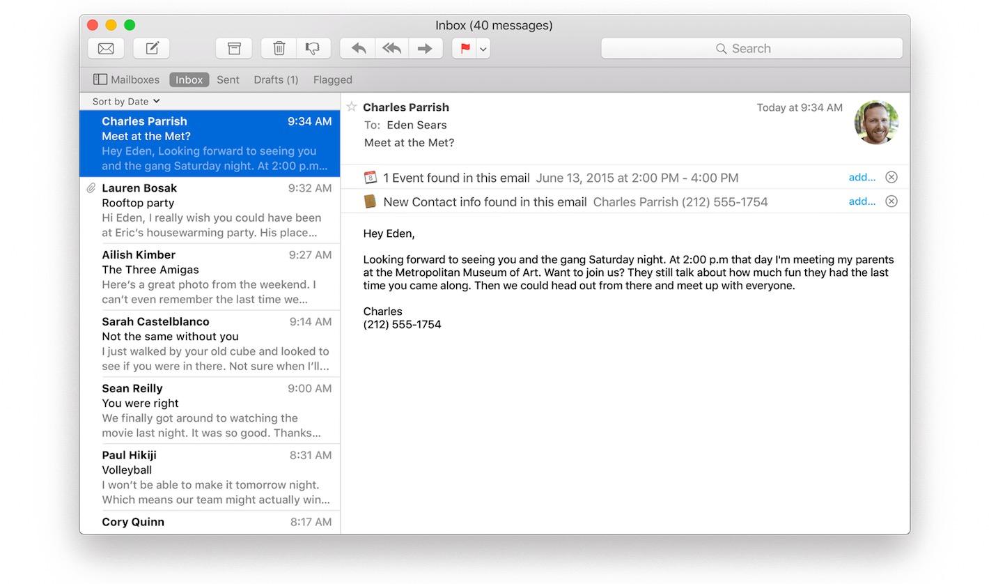 Os x el capitan fin de la convalescence pour mail macgeneration - La redoute contact mail ...