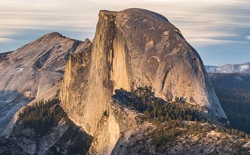 Yosemite tombe en ruine