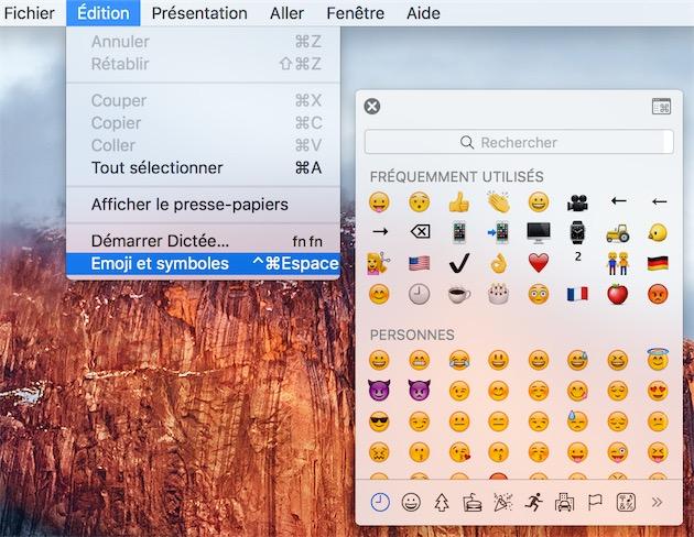 Astuce Un Raccourci Pour Afficher Les Emojis Sur Os X