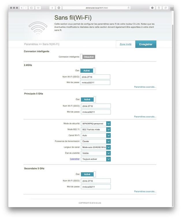 Même si la fonction Smart Connect est très satisfaisante, vous pouvez gagner à séparer les différentes bandes en différents réseaux possédant chacun leur propre SSID. L'interface d'administration permet logiquement de créer jusqu'à trois réseaux, qui peuvent même être activés et désactivés selon un calendrier précis.