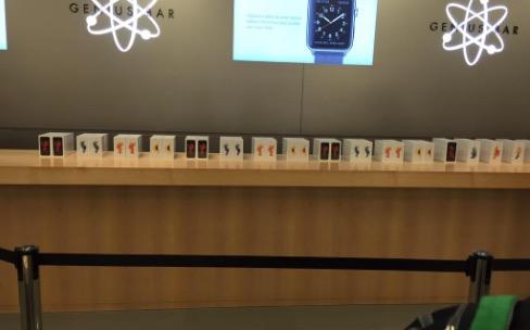 iPhone6s: il y a peu de monde devant les Apple Store