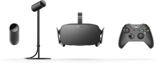 Le casque et ses accessoires. Image Oculus.
