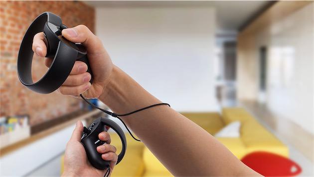 Les manettes Touch. Image Oculus.