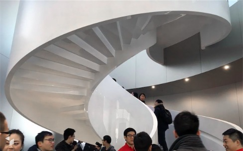 Apple Store de Nanjing, mise à jour majeure pour l'escalier