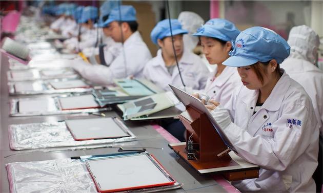 Des salariés de Foxconn. Image Apple.