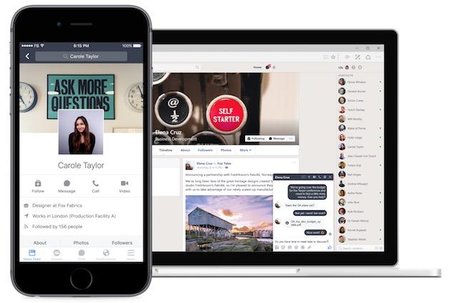 Workplace sur un iPhone et un ordinateur. Cela ressemble à Facebook, mais ce n'est pas exactement Facebook… Cliquer pour agrandir