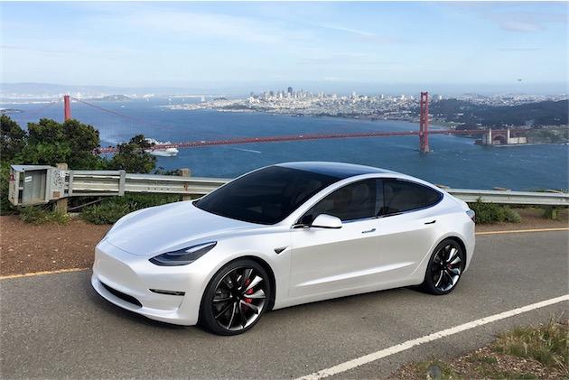 La Model3 de Tesla, annoncée pour la fin de l'année 2017.