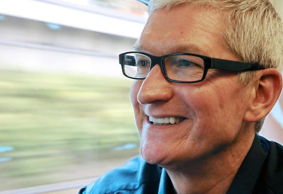 Tim Cook est un homme pressé, l'interview s'est donc déroulée… dans un train.