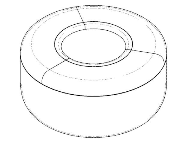 Dessin du design du pot extrait du brevet déposé par Apple.