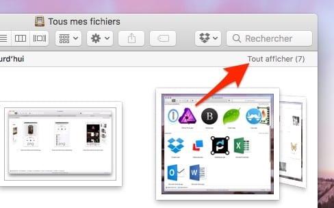 Finder : un affichage Cover Flow pour les fichiers créés ou modifiés