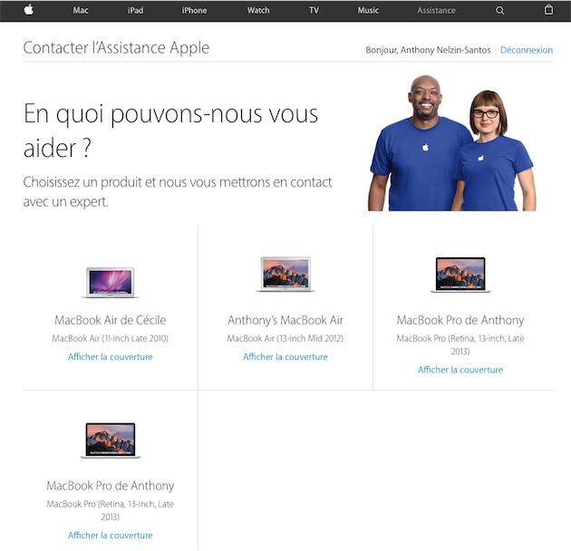 La page de gestion des appareils, qui liste ici deux fois la même machine, et une machine qui na pas été connectée à lidentifiant Apple en question depuis des années. Dans le même temps, elle ignore dautres Mac et tous les appareils iOS.